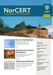 KvartalSrapport for 1. Kvartal 2012 - NSM