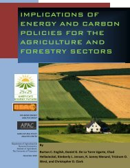 implications of energy and carbon policies for the agriculture and ...
