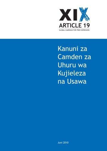 Swahili Translation.indd - Article 19