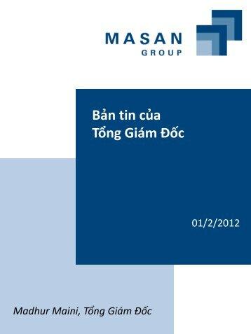 Bản tin của Tổng Giám Đốc - Masan Group