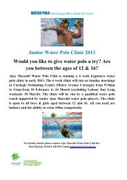 11-Feb-2013 by Waterpolo Junior Water Polo Clinic 2013