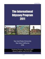 The International Odyssey Program 2011 - The Odyssey Program