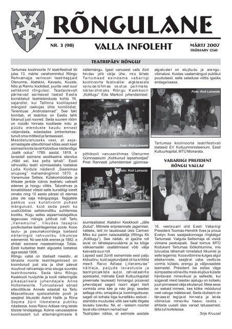 Märts 2007 - Rõngu Vald