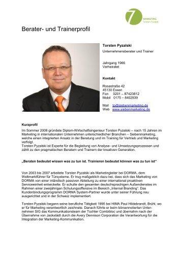 Berater- und Trainerprofil - Spreeforum  International GmbH
