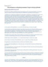 Übereinkommen zur Regelung bestimmter Fragen in Bezug auf Berlin