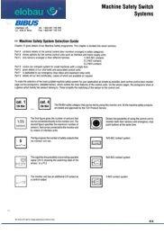 Machine Safety Switch Systems