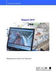 année 2010 - HUG - Département de l'enfant et de l'adolescent