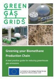 Greening'your'Biomethane' Production'Chain' - Dena