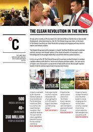 The Clean RevoluTion in The news 500 40+ 350 million