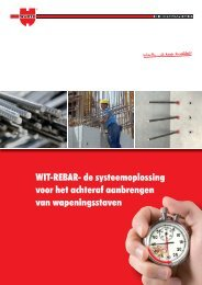 WIT-REBAR- de systeemoplossing voor het ... - Würth Nederland