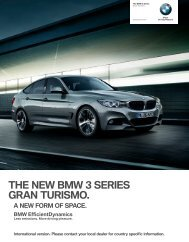 THE NEW BMW  SERIES GRAN TURISMO.