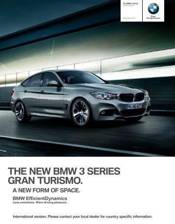 THE NEW BMW  SERIES GRAN TURISMO.