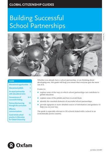 Building Successful School Partnerships - Oxfam