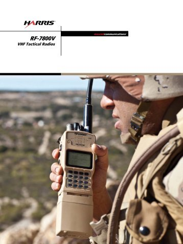 RF-7800V VHF Tactical Radios - Harris RF Communications - Harris ...