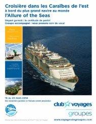 à bord de l'Allure of the Seas