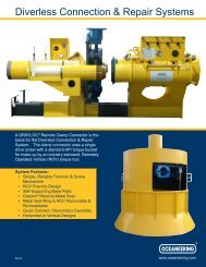 Diverless Connection & Repair Systems - Oceaneering