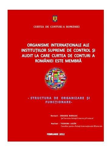 Organisme internaţionale ale SAI la care Curtea de Conturi a ...