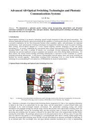 Advanced All-Optical Switching Technologies and Photonic ...