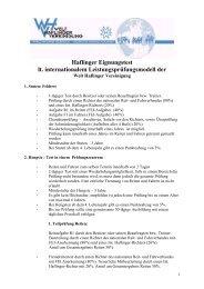 Haflinger Eignungstest (Leistungsprüfungsmodell ... - Haflinger Tirol