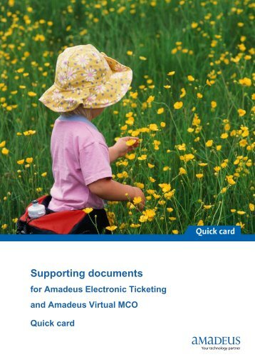 Supporting documents - Amadeus