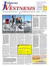 2011.gada 7.aprīlis Nr.14(199) - Jelgavas Vēstnesis