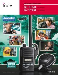 VHF AND UHF TRANSCEIVERS - American Communication Systems
