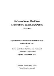 International Maritime Arbitration: Legal and Policy Issues - ACICA