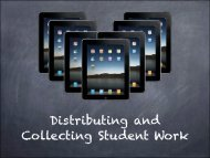 Collecting and Distributing Student Work copy
