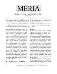IRAQ'S FUTURE: A CONCEPT PAPER - GLORIA Center