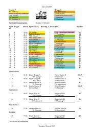 Spielplan Generali Cup 2007 Hattsteinhalle