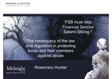 'FSB must stop Financial Service Financial Service Salami Slicing ...