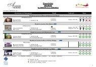 Disponibilités MEUBLES du 05/08/2013 au 02/09/2013