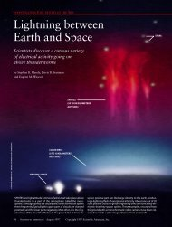 Lightning between Earth and Space - Department of Atmospheric ...