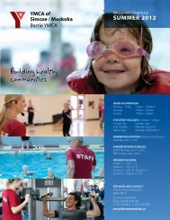 Building healthy communities - YMCA of Simcoe/Muskoka