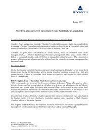 Aberdeen Announces New Investment Teams Post Deutsche ...