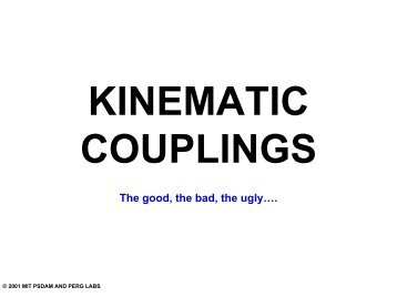 Kinematic coupling centroid displacement