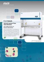 Vertical Laminar Flow Clean Benches - Esco
