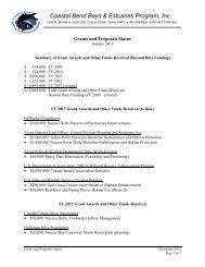 attachment 4 - The Coastal Bend Bays & Estuaries Program