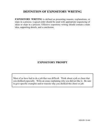 Expository essay definition