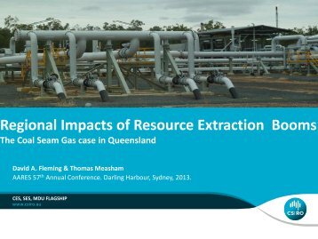 Regional Impacts of Resource Extraction Booms - Australian ...