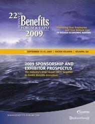 2009 SponSorSHip AnD eXHibitor proSpeCtUS
