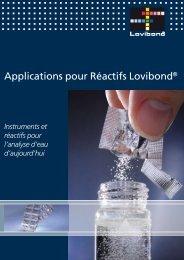 Applications pour Réactifs Lovibond® - VitaPiscine