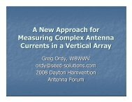 A New Approach for Measuring Complex Antenna ... - Seed Solutions