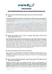 GHS- und REACH-Änderungen, die ab 1 ... - VWR International