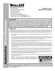 13429: 295HFANC Siren Amplifier - Whelen Engineering
