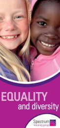 Equality & Diversity - Spectrum Housing Group