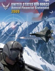 Fiscal Year 2009 Department of the Air Force Financial Statements ...