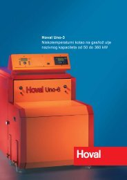 Hoval Uno-3 Niskotemperaturni kotao na gas/lož ulje nazivnog ...
