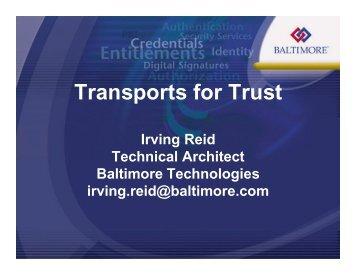 Irving Reid - Internet2 Middleware Initiative