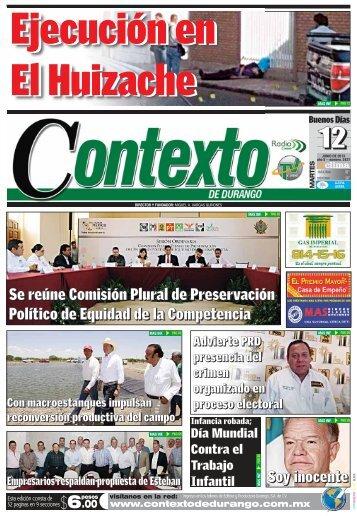 12/06/2013 - Contexto de Durango